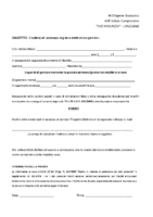 Modulo Richiesta Credenziali Registro Elettronico Scuola Primaria